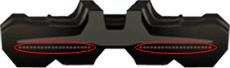 bv206 rubber tracks - aligned steel cords